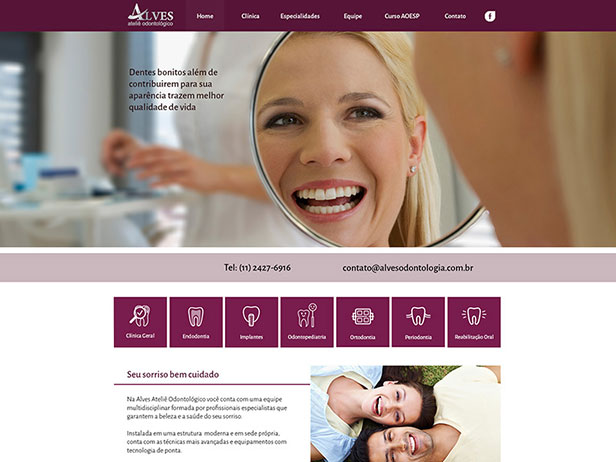 Site Alves Odontologia